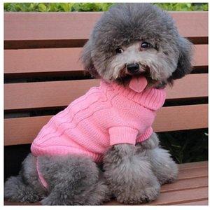 Venta al por mayor-pequeña mascota perro cachorro gato cálido suéter ropa de invierno disfraces ropa abrigo de punto
