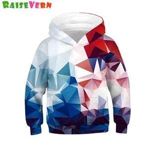 Fashion 3D Geometric Print Hoodies Boys Girls Sweatshirts Spring Thin Pullover Tops Children Hip Hop Hoodie Kids Outerweariz4R#