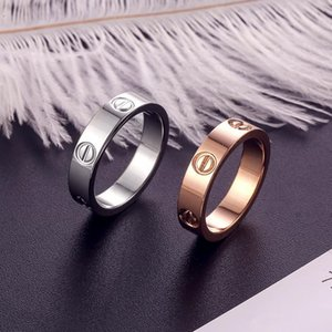 diseño de lujo clásico de las mujeres anillo de la joyería con el cristal para hombre anillos de oro de 18 quilates de acero amor del brazalete del tornillo de acero bracciali