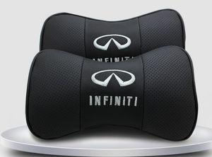 2pcs vrai cuir siège de voiture coussin de cou oreiller appui-tête de voiture fit pour Infiniti voiture