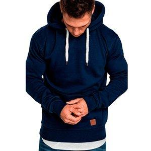 Men\'s Fashion Fleece Hoodies Solid Cozy Casual Pocket Long Sleeve Hooded Outdoor sport Autumn Hoodies Coat