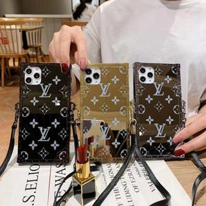 Mode bracelet téléphone cas étui de téléphone de miroir pour iphone 11 pro 11promax x xs max xr 11Pro 8plus 8 7 6 7plus 6s plus la couverture de l'épaule