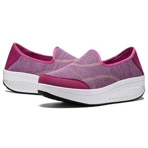 Hot Sale-Summer Women Swing Shoes Thick Sole Shoes Ankle Platform Shoes Plus Size Travel Casual Sneakers