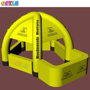 OCYLE Envío Gratis 3mWx4.5mLx3mH amarillo inflable stand bar stand kiosco tienda de campaña tienda de publicidad