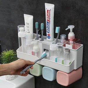 컵 칫솔 홀더 Aotumatic 치약 스 퀴저 디스펜서 욕실 액세서리 세트 욕실 스토리지 박스 케이스 생활 용품