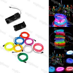 Светодиодный неоновый знак EL проволоки 3V гибкие 8 цветов 3M изменчивый для автомобильного танцевального вечеринка сцена реквизит рождественские праздники освещения DHL
