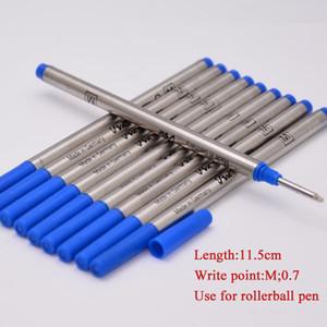 Hot Sell-10 pcs Boa Qualidade Tinta azul recarga para Roller Ball Pen Suave Escrita Mb Pen Refills