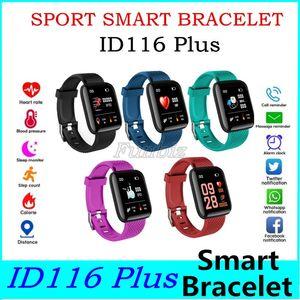 Para el reloj de la manzana color de la pantalla ID116 pulsera inteligente Plus rastreador de ejercicios 116 Plus Band ritmo cardíaco inteligente Muñequera más barato