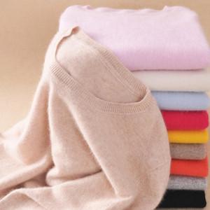 Alta Qualidade 2020 Outono Inverno Cashmere algodão misturado malha Mulheres Camisolas e pulôveres Jersey ponte blusas mulher