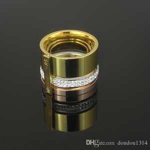 Multicolor Diamond Crystal Stone Ring For Men Women 316l Stainless Steel 18k Rose Platinum Yellow Gold Plated Fashion Jewelry