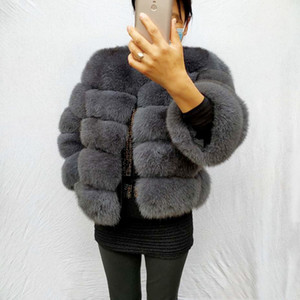 Real 100% Natural Winter Women's Jacket Warm Fox Coat High Quality Fur Vest Free Shipping