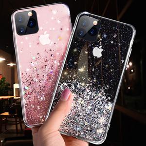 Líquido de lujo caja del teléfono del brillo para el iPhone 11 concha protectora de silicona TPU casos para el iPhone x 6 7 8