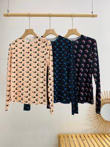 marine Serre Femmes concepteur t-shirt marin de luxe Serre 3D talonnage lune 3D crème solaire creux de la vague chemise lune femmes manches longues