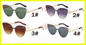 Verão mais novo mulher moda ao ar livre de metal óculos de Sol das senhoras de condução goggle reflexivo olho de gato sem moldura óculos de sol 4 cores frete grátis