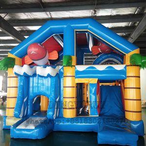 Im Freien aufblasbaren Bounce Combo Trampolione mit Innen Spiel Kids Jumping Bouncy Sport Game Castle