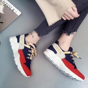 Женщины Повседневная Sneaker Синий Красный Черный Mesh All-матч Мода женщин Открытый Высокая Ткань обувь Кроссовки Бесплатная доставка Размер 36-39