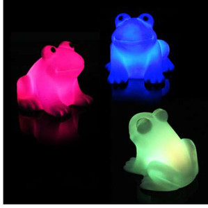 New Sapo Magia Energia Luz LED Noite bonito da novidade de troca da lâmpada Cores Colorido para presente das crianças