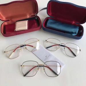 Montura de las gafas del marco Marca retro irregular metal vidrios de las mujeres 2019 de lujo de gran tamaño de los hombres del marco de los vidrios de la miopía ultraligera
