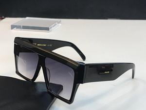 40030 Vintage солнцезащитные очки Одри моды для женщин дизайнер Большой квадратный кадр лепестковые Топ Крупногабаритные Лучшие солнцезащитные очки Leopard Pc Plank Материал рамы