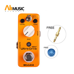 Mooer Ultra Drive MKII Distortion Guitar Effect Pedal 3 Working Modes: Original Extra Ultra Full Metal Shell True Bypass