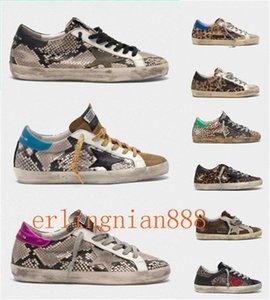 Moda Itália Goleden Old Style DB Sneakers Couro vilosidades Derme calçados casuais dos homens / mulheres Superstar instrutor Tamanho EUR35-45