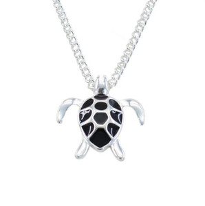 New Fashion Mini Black Smalto Sea Turtle Collana a maglie a maglia catena di gioielli da sposa Ocean Beach Lovely Lovely Turtle Necklace