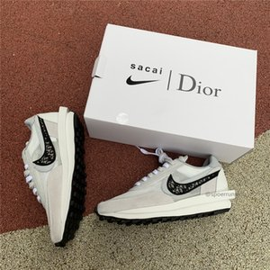 2019 nike air jordan 1 retro AJ1 dior Release Sacai x LDWaffle Multi Daybreak Mesh Upper Trainers Mens Sneakers Women fashion Breathe Sports Running Shoes cn8898-002