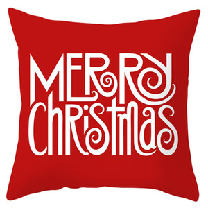 Santa Claus Elk Serie del copo de la funda de almohada roja Feliz Navidad Sofá Throw Pillow caso de Navidad Año Nuevo almohada cubierta 40 Patrones DHD745