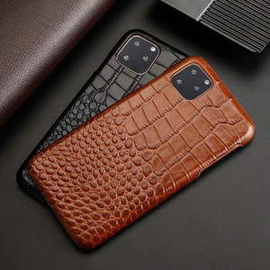 протектор экрана Luxury натуральная кожа Чехол для телефона Тонкий жесткий задняя крышка Fundas для Iphone 11 Pro Max 11Pro Xs Max Хг X 8 7 Plus