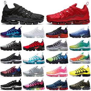 nike air vapormax vapor max TN plus artı koşu ayakkabıları erkekler kadınlar üçlü siyah Lava Glow OYUN KRALIYET serin gri PEMBE RISE BUMBLEBEE erkek eğitmenler nefes spor sneakers