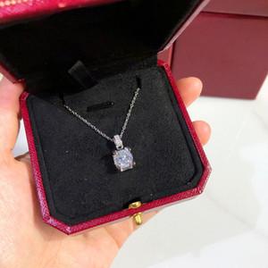 Diamant Halskette Frauen Anhänger Halskette S925 Silber überzogene Individualitätskette Halskette für Frauen Party Hochzeit Geschenk