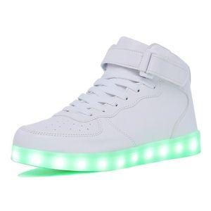 Kriativ Adultkids Мальчик и Девочка с Высоким Верхом Led Light Up Shoes Светящиеся Кроссовки Светящиеся Подошвы Кроссовки Для Женщин Y190525