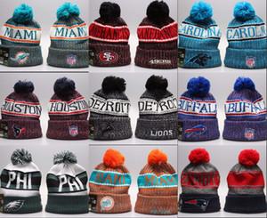 Дешевые Оптовая Hot! Зимнего бейсбол скейтборды шапочки шляпа вязаная теплая шапка футбольных команды зимние шапочки Вышитые случайные шапочки черепа