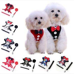 Hot sale Pet Dog Evening Dress bowknot Tie Chest straps With Metal Buckle Pet vest T3I0297