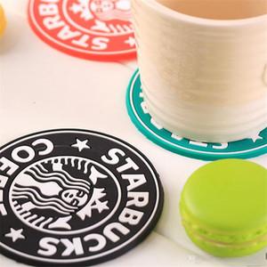 60pcs Silikon Altlıkları Kupası Mat Yastık Tutucu Starbucks Deniz-hizmetçi kahve Altlıkları Kupası Mat Çapı 85mm Kalınlığı 3mm Kahve Mat Altlıkları