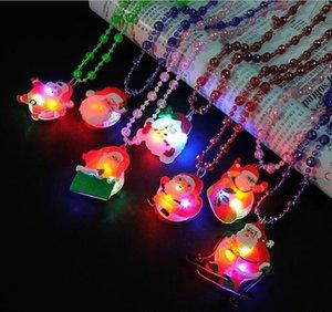 20шт / много Рождества светящейся игрушки подвеска Рождественский подарок, Детская игрушка ожерелье, много моделей случайно отправка T191022