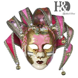 HD rose mascarade masque vénitien Jester Résine Musique Mardi Gras Mur Décoration de Pâques Cadeau T200326