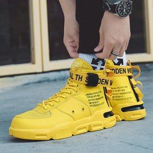 COOLVFATBO hommes vulcanisée Sneakers Chaussures pour hommes classique à lacets haut Primtemps Automne plat Occasionnels Chaussures Hommes T200413