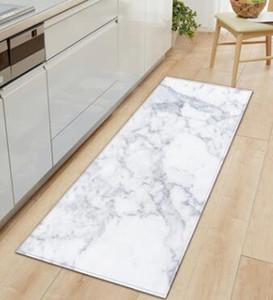 Imprimé Marbre Noir Blanc Rose Entrée Paillasson Tapis longues sol Tapis pour Salon Cuisine Salle de bain Tapis