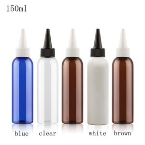 150ml X 50 Empty rotonda a punta Bocca E Liquid contenitore di plastica 150cc bottiglie vuote cosmetico blu lozione con tappo a vite fai da te