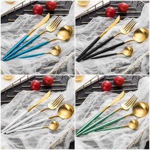Set di posate da tavola Set di posate di lusso in oro rosa Set di posate da tavola in acciaio inox per posate da tavola per cucina domestica