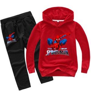 Niños Ropa para Niños Niñas Spiderman juego de ropa adolescentes superhéroe Spider Man chándal Adolescentes Sport traje ropa al por mayor