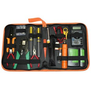 16 in 1 Portable Network Cable Tester Tool LAN Utp Screwdriver Wire Stripper For Computer Network Crimping Pliers Tool Kit Sets