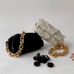 Peau de vache épais nuage chaîne main Louche épaule Underarm Sac Femme 2020 nouveauSet luxe Sacs à main Femme Sacs Designer Livraison gratuite