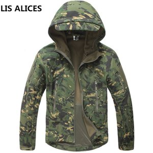 LIS ALICES Army Camouflage Men Jacket Coat Chaqueta táctica Invierno Impermeable Soft Shell Windbreaker Hunt Clothes