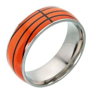 Lega sportiva di lega di colore del nastro dell'anello di titanio dell'anello del nastro di baseball di pallacanestro di baseball creativo del modello per i regali