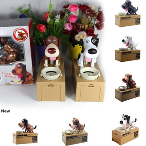 Cute Choken Greedy Dog Model Piggy Bank Money Save Pot Coin Creative Storage Cartoon Puppy Hungry Robotic Dog Money Box Party Favor RRA2637