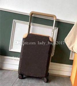 Uomini Donne Newset valigia di corsa dei bagagli di modo Tronco Bag Fiori lettere borsa Rod Box Spinner universale rotella sacchetti di Duffel