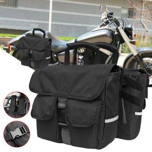 Bag Multi-função de assento destacável motocicleta Rear Side Bag alforje bicicleta motocicleta Rear equitação Mochila Backseat Bags