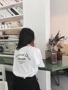 2020 Бесплатная доставка горячие продажи Designered женщины мужская футболка мода повседневная весна лето тройники высокое качество роскошные девушки футболка 2021203Y